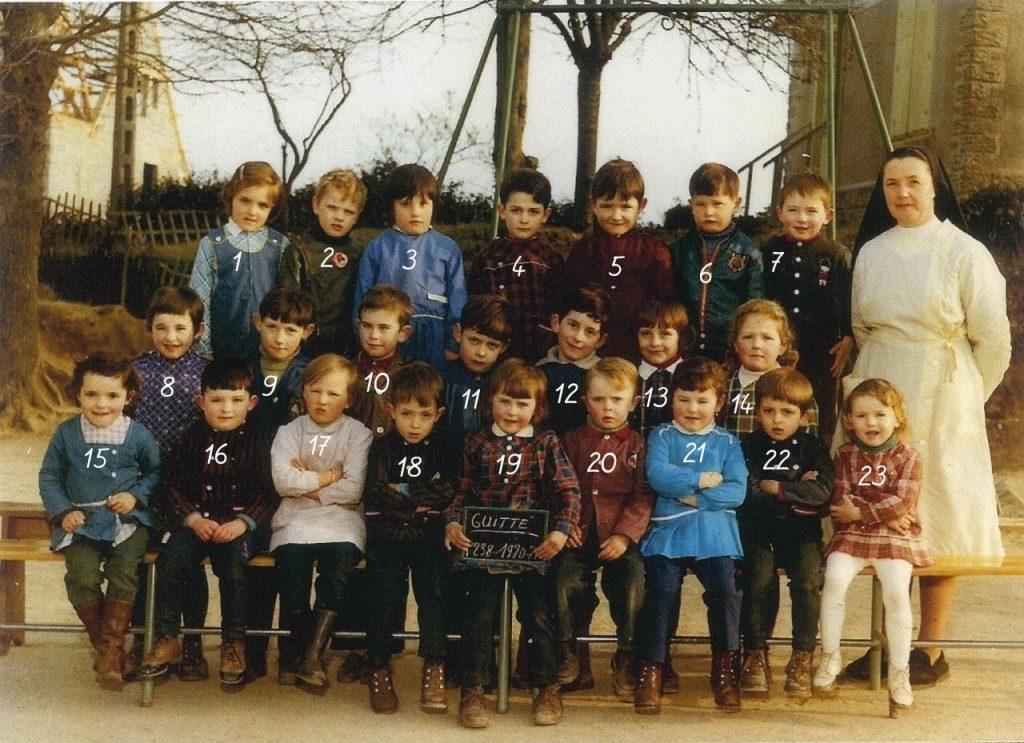 photo de 1970 guitté avec nombre