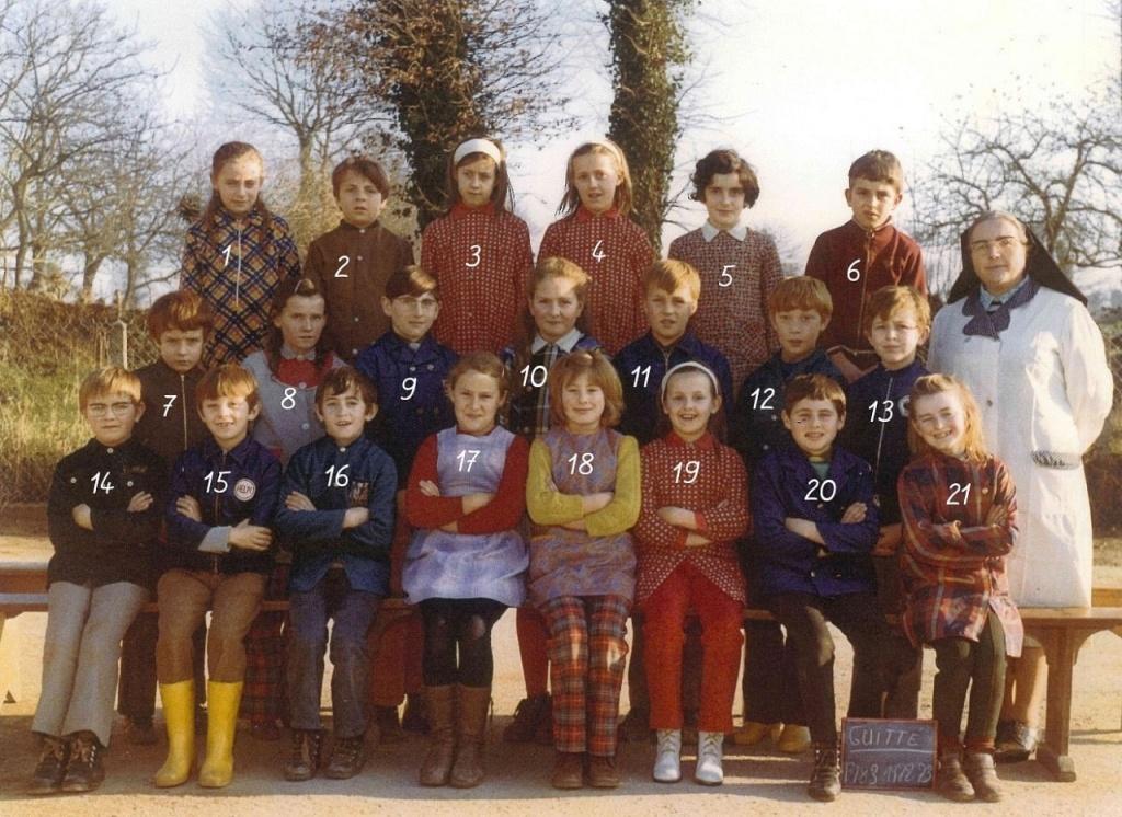 photo de classes 1972 - 1973 Guitté