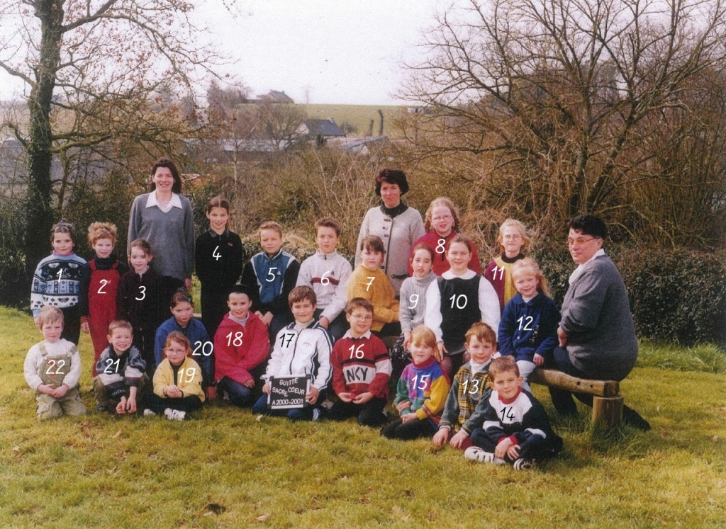 photo de classe 2000 - 2001 guitté nombres